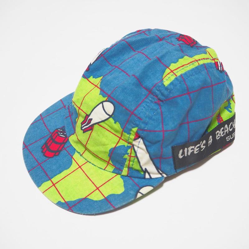 【激レア】1980's  Life's a beach cap (地球儀×ミサイル)