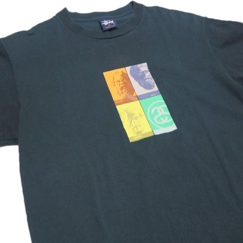1990's  STUSSY  USA製  哲学者T-shirts    表記(M)