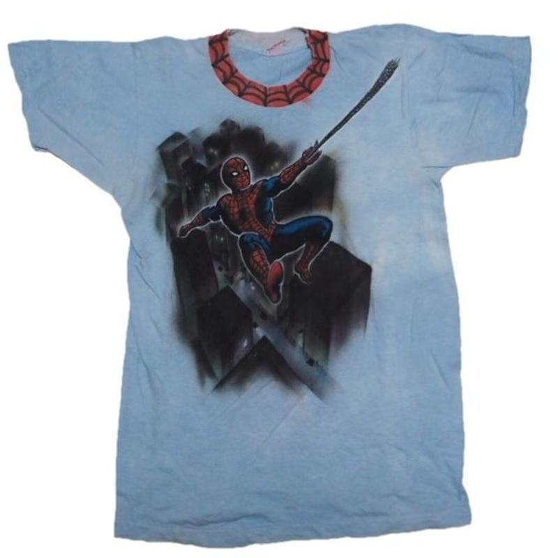 1980's スパイダーマンT-shirts(ハンドスプレーペイント) 実寸M