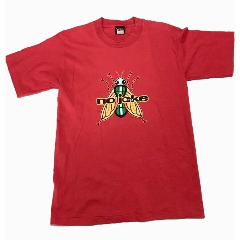 1990's  USA製 NO JOKE ハエ   T- shirts  表記M