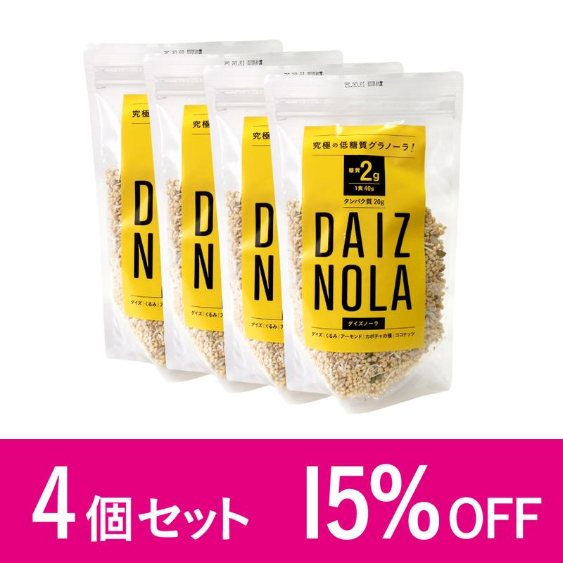 究極の低糖質グラノーラ「ダイズノーラ」  4個セット