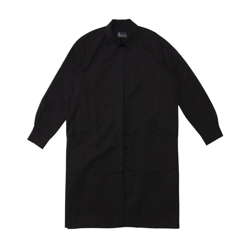 BF-0135-FREE  ロングシャツ<BLK>
