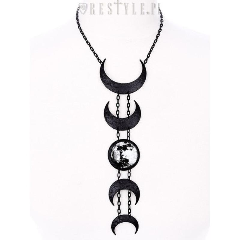 RE-4321 LUNAR BLACK NECKLACE<BLK>