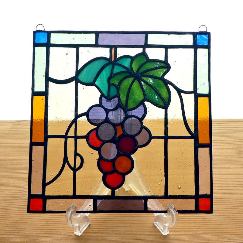 ステンドグラス ミニパネル ブドウB 15cm