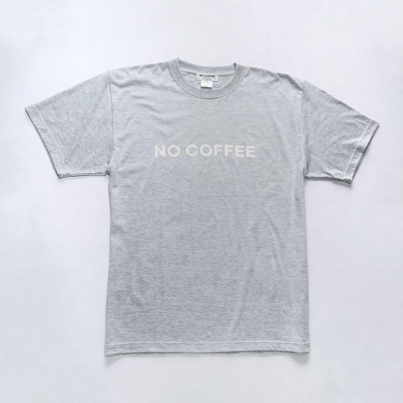 NO COFFEE ロゴTシャツ アッシュグレー