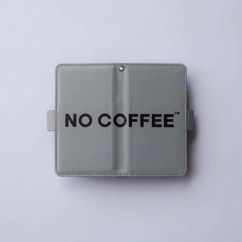 NO COFFEE 手帳型スマホケース GRAY