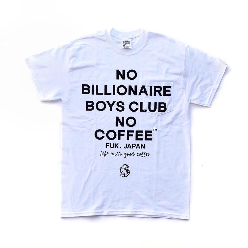 BILLIONAIRE BOYS CLUB × NO COFFEE NO BBC Tシャツ(ホワイト)