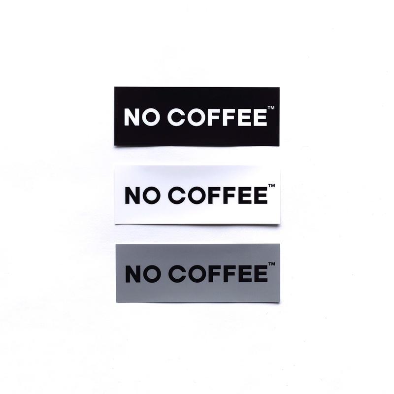 NO COFFEE ステッカー小3枚セット