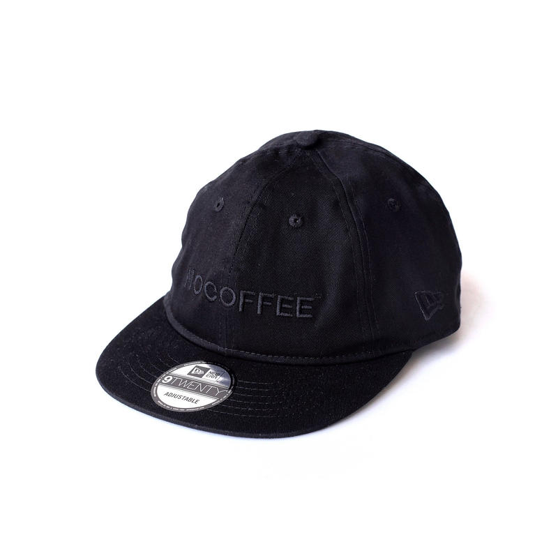 NO COFFEE × NEWERA 9TWENTY CAP BLACK × BLACK