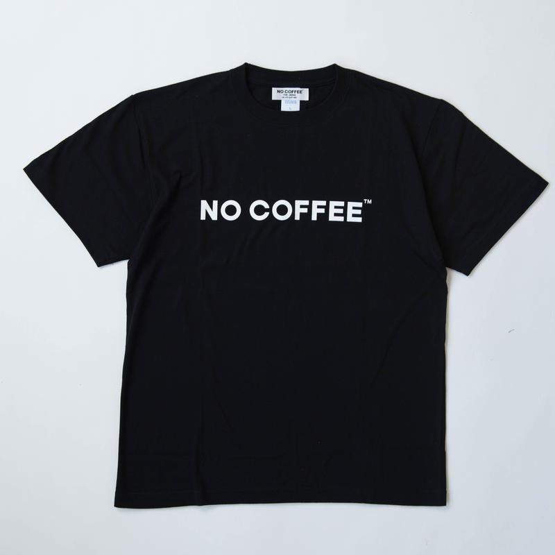 NO COFFEE ロゴTシャツ(ブラック)