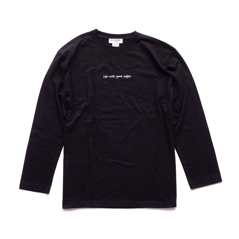 NO COFFEE LS Tシャツ LWGC (ブラック)