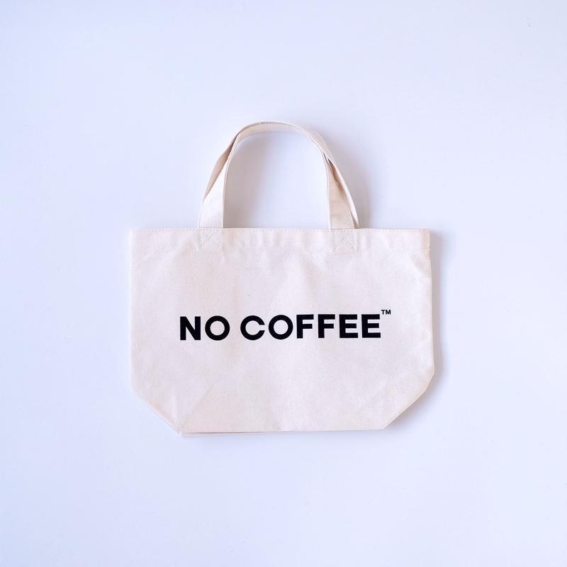 NO COFFEE ミニトートバッグ(ホワイト)