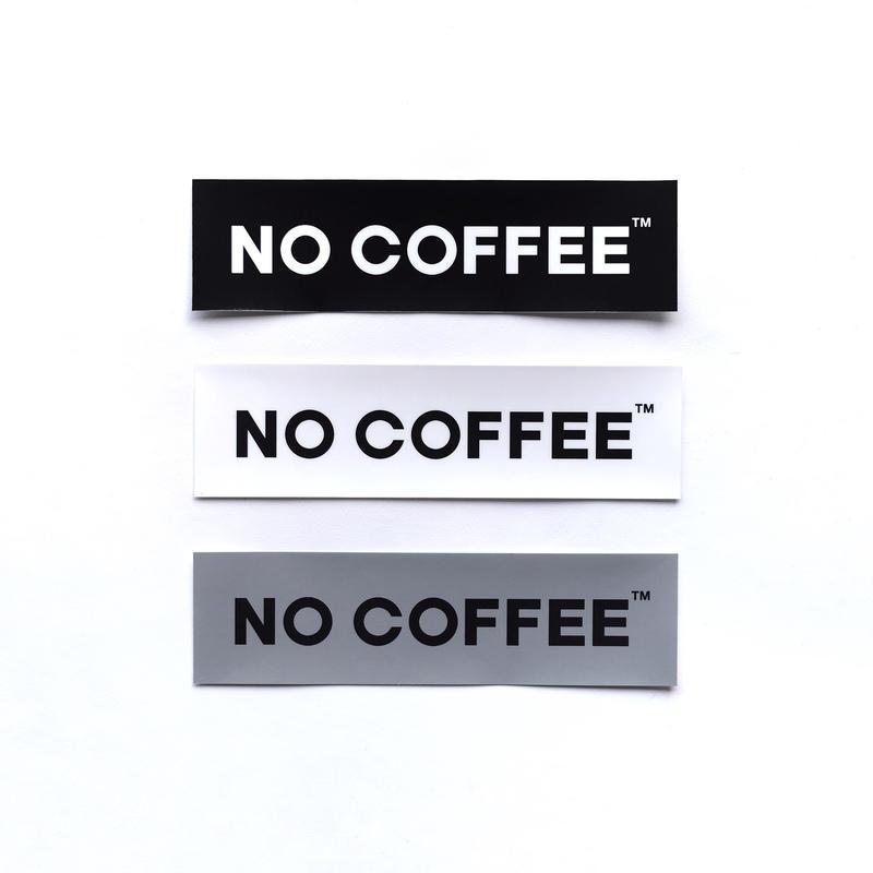 NO COFFEE ステッカー大3枚セット