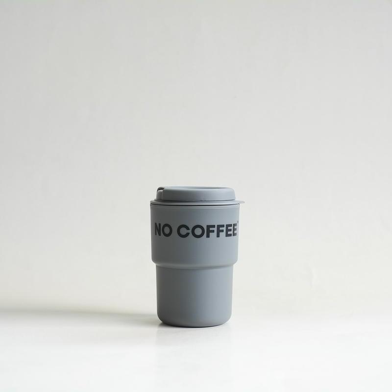 【4月末再入荷予定】NO COFFEE タンブラー(グレー)