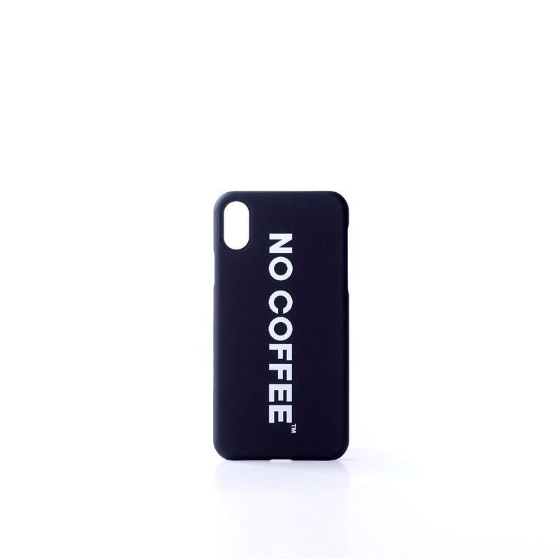 NO COFFEE iPhoneX・XS用ケース(ブラック)