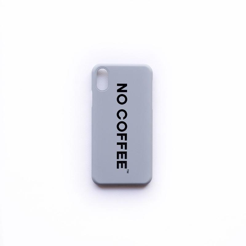 NO COFFEE iPhoneX・XS用ケース(グレー)