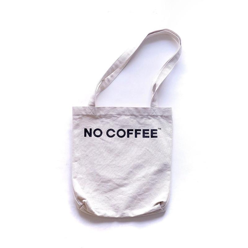 NO COFFEE トートバッグ(ホワイト)