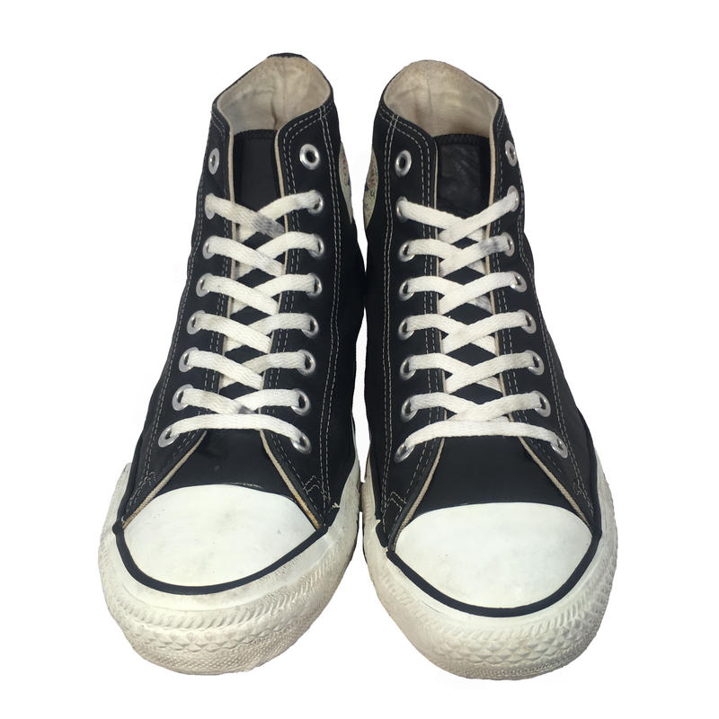 90's CONVERSE  ALLSTAR Hi LEATHER BLACK