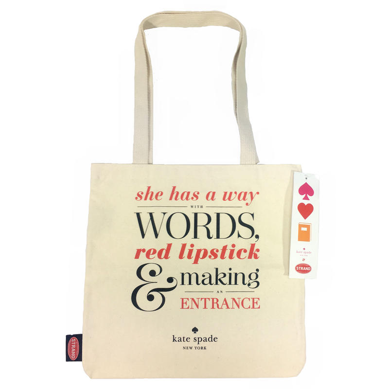 "STRAND BOOK STORE x KATE SPADE TOTE BAG ""red lipstick"""