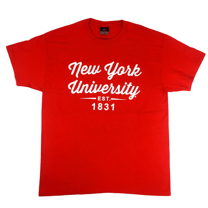 NEW YORK UNIVERSITY S/S TEE RED