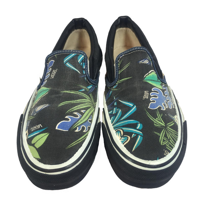 VANS 90's SLIP-ON BLACK/PARROT