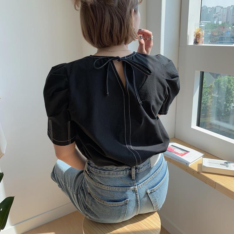 ✳︎予約販売✳︎stitch puff blouse/2colors