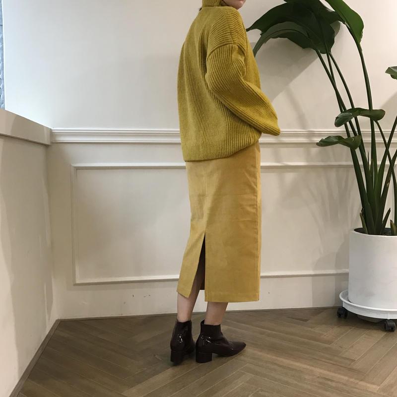 *予約販売*high neck lib knit/2colors