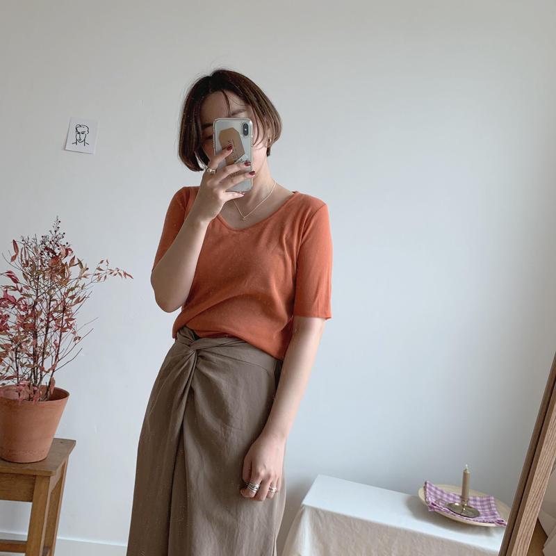 ✳︎予約販売✳︎u neck knit /2colors
