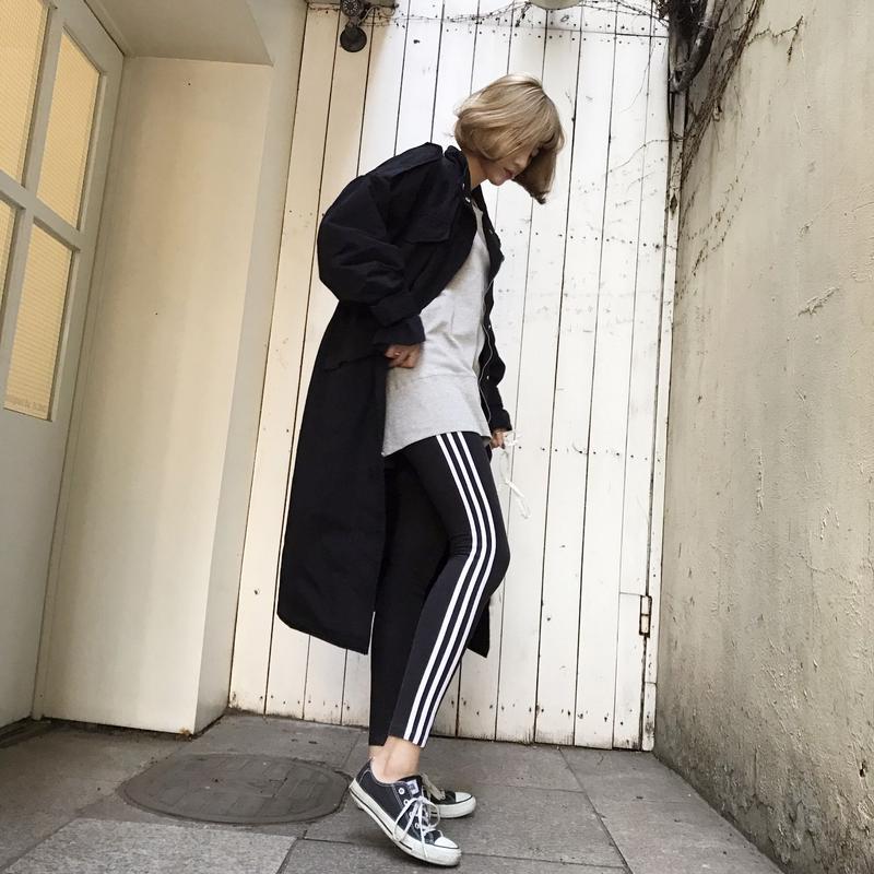 ロングレングスミリタリージャケット / ブラック