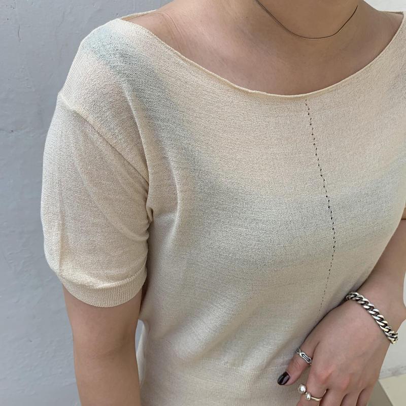 ✳︎予約販売✳︎boat neck knit/2colors