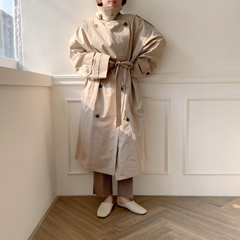 【NOKCHA  original】over trench coat /light beige