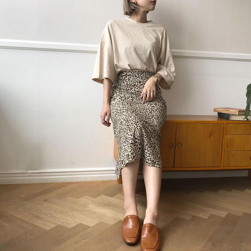 *予約販売*レオパードミドルスカート/2colors