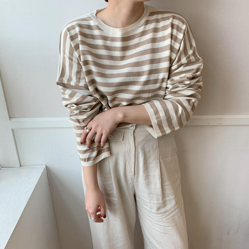 ✳︎予約販売✳︎boarder knit /2colors
