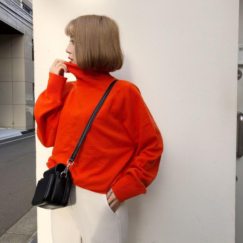 *予約販売*カシミアブレンドニット/オレンジ