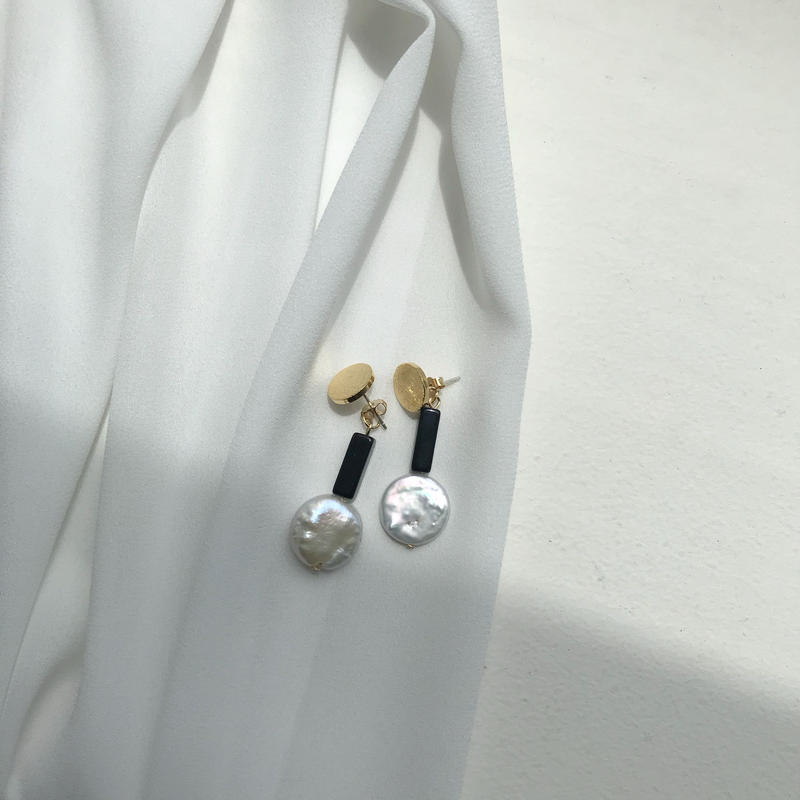 ✳︎予約販売✳︎stone pierced earring