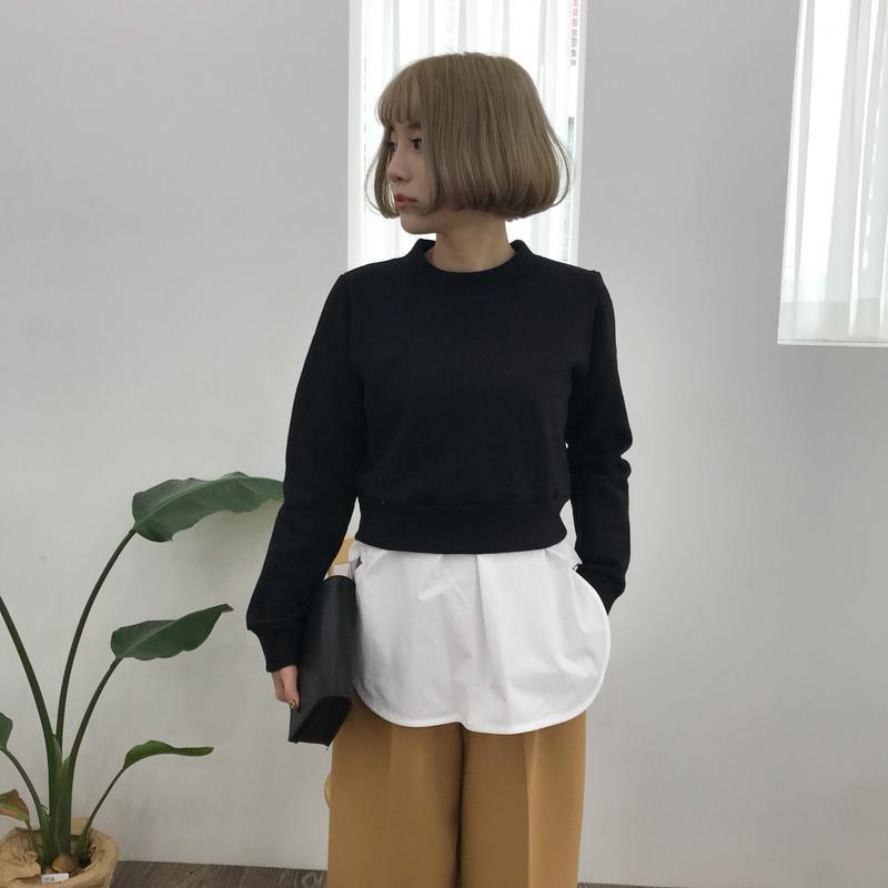 * 予約販売*ミニトレーナー&タンクシャツSET/ブラック
