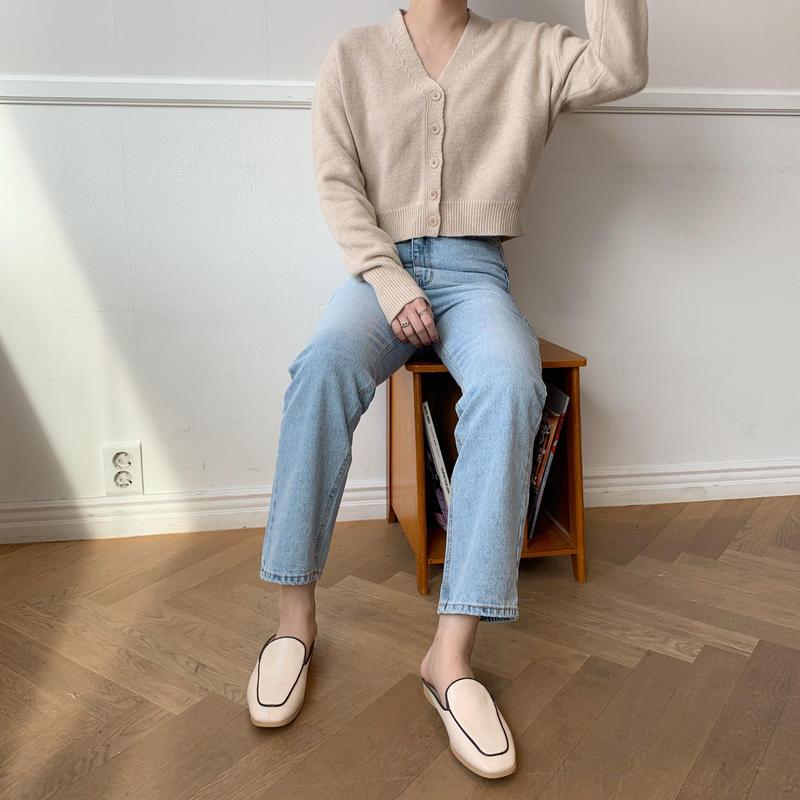 minimal knit cardigan/2colors