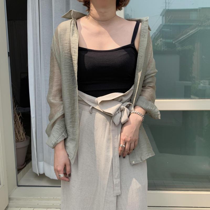 ✳︎予約販売✳︎sheer loose shirt/2colors