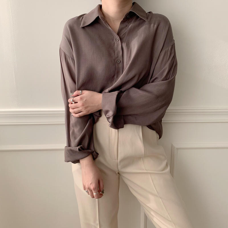 silky shirt/2colors