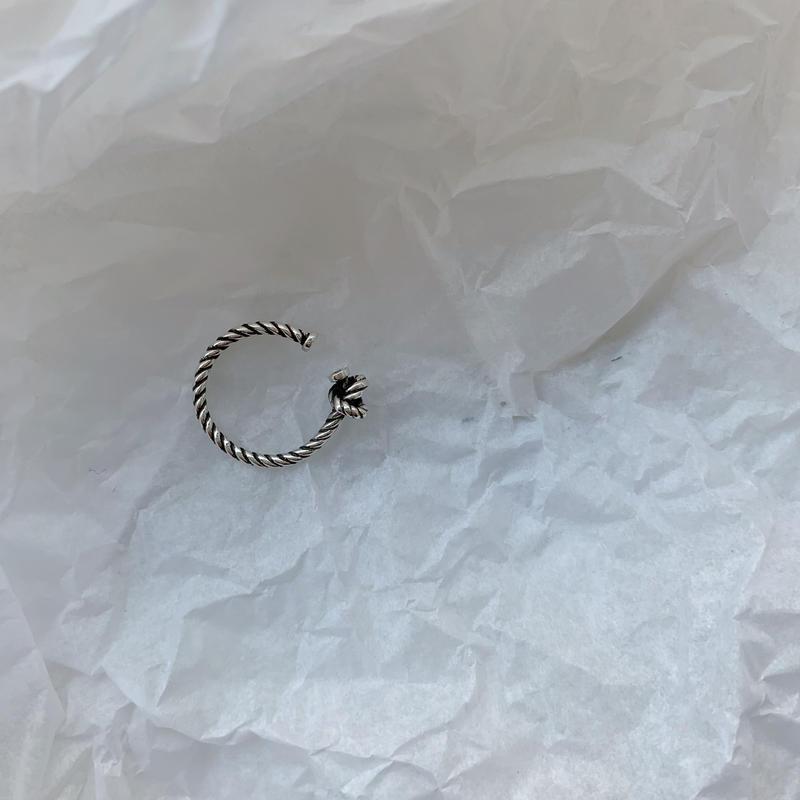 silver925 twist maird ring