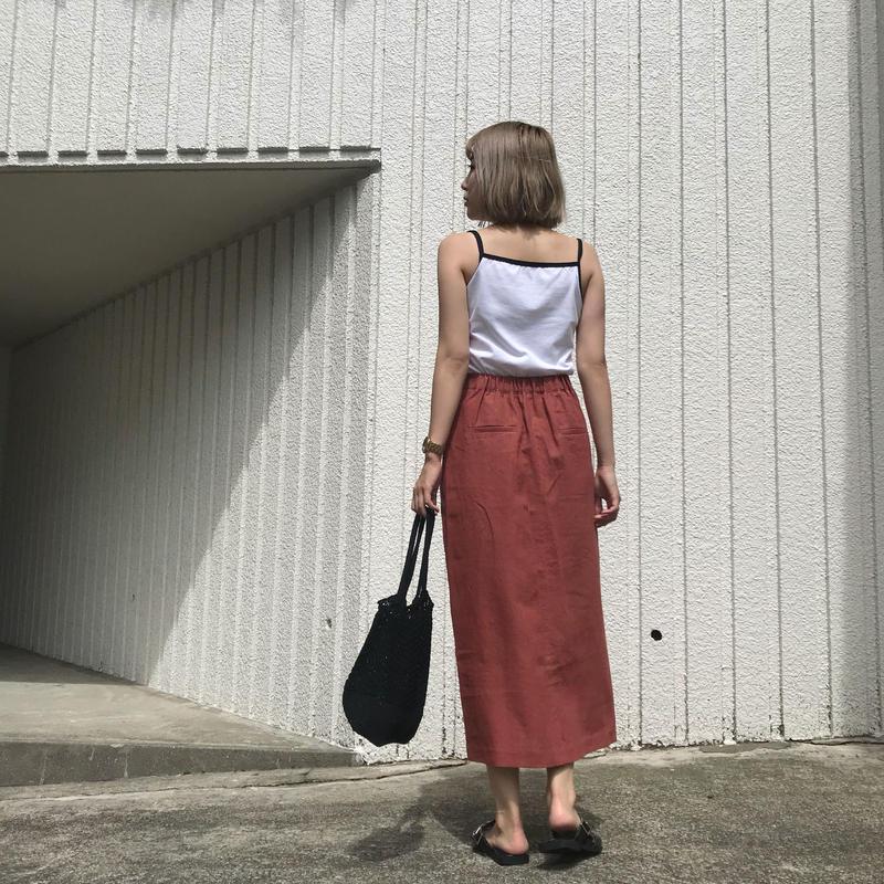 ✳︎予約販売✳︎ リネンスリットスカート/3colors