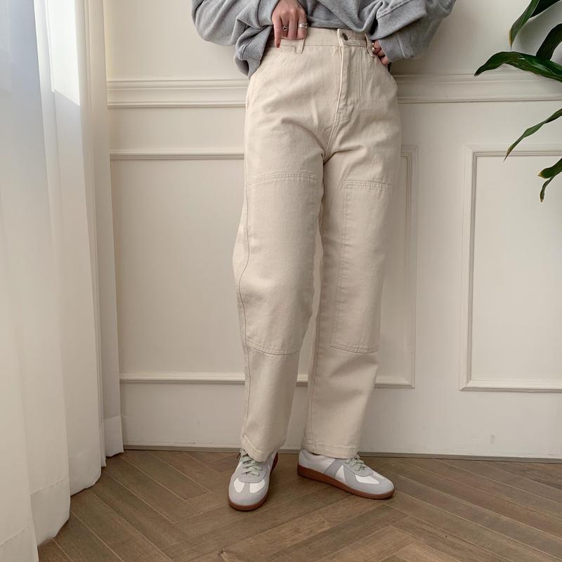 ✳︎予約販売✳︎point white jeans