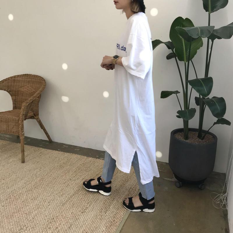 """*予約販売*""""FRI.day""""Tシャツワンピース/ホワイト"""