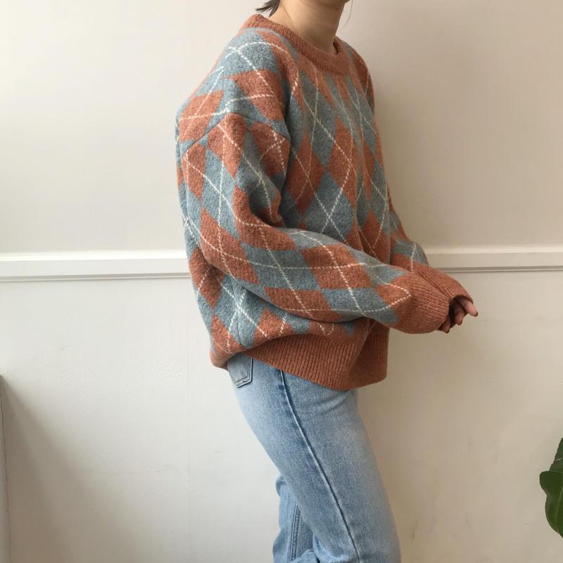 *予約販売*argyle knit