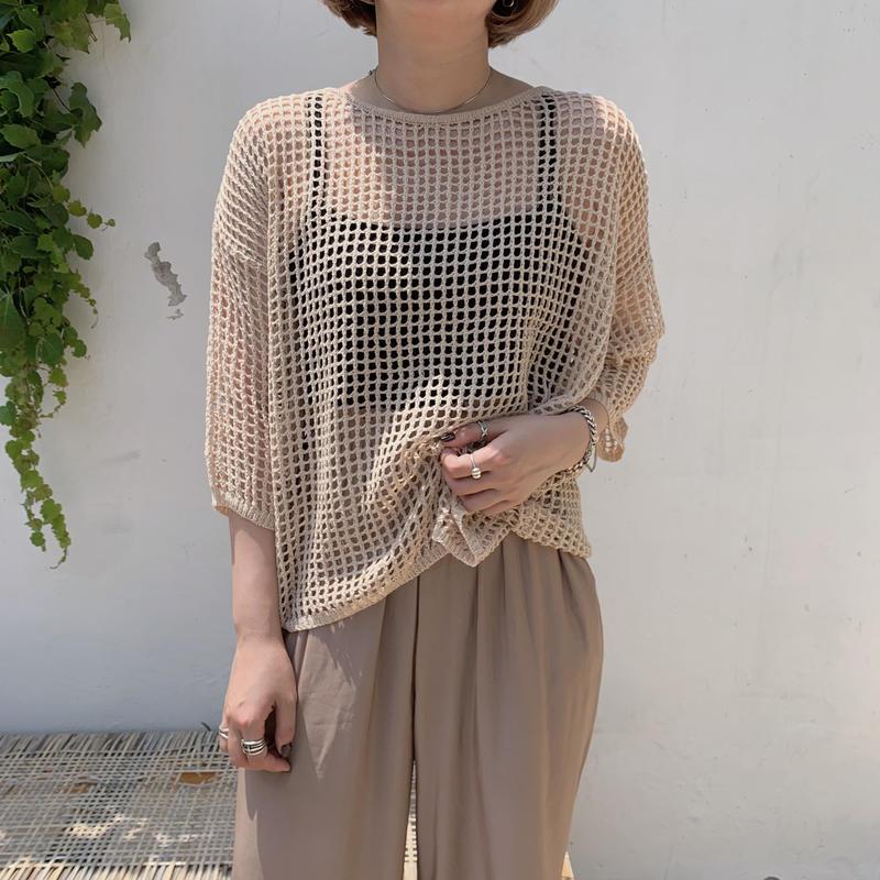✳︎予約販売✳︎mesh knit/2colors