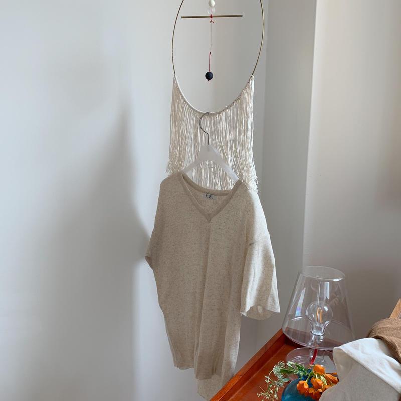 ✳︎予約販売✳︎v neck linen knit/3colors