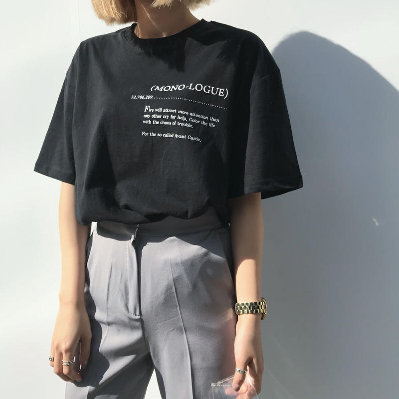 """""""MONO-LOGUE """"T-shirt/2colors"""