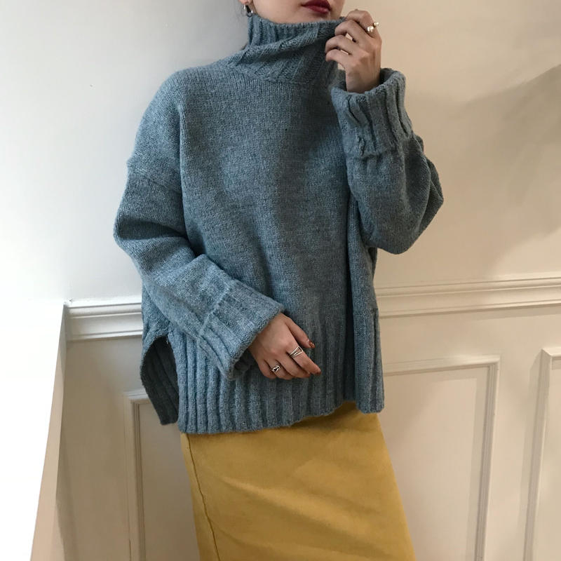 *予約販売*lib slit knit/2colors