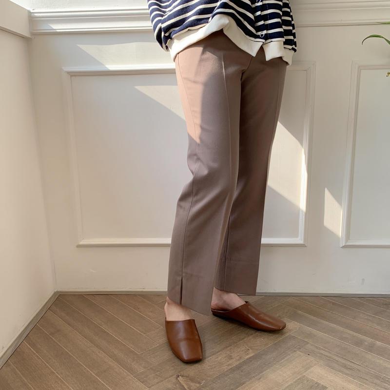 slit slacks/2colors