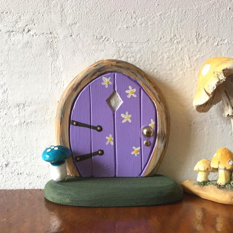 ミニミニドア・紫のフラワーフェアリーの扉